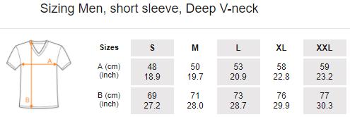 Men, short sleeve, Deep V-neck