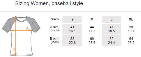 Women's T-shirt, baseball style