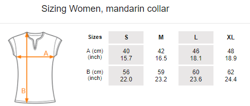 Women's t-shirt, mandarin collar