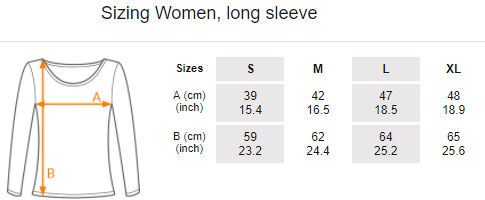 Women's t-shirt, long sleeve